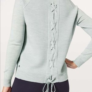 Lululemon Tied To You Lace Up Sweater